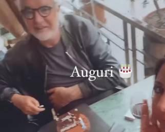 Briatore e Gregoraci insieme per il compleanno