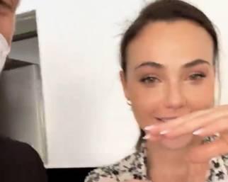 Rosalinda Cannavò in lacrime per Andrea Zenga