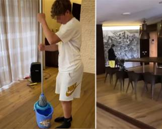 Ilary Blasi mette i figli a fare le pulizie