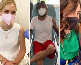 Chiara Ferragni e gli altri vip corrono felici a vaccinarsi