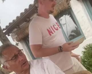 Paolo Bonolis con il figlio 'americano' Stefano