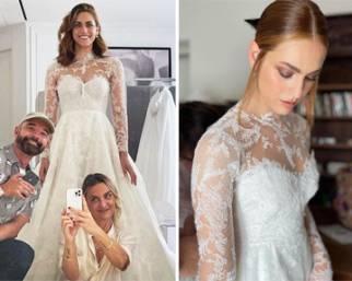 Miriam Leone, i dettagli dell'abito da sposa