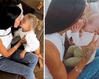 Veronica Ciardi mamma dolcissima con le figlie