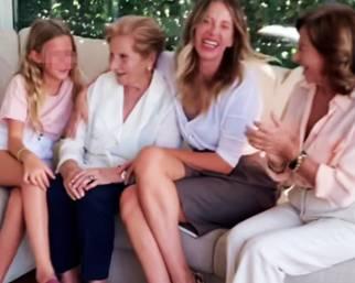 Alessia Marcuzzi, quattro generazioni a confronto